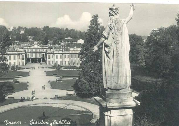 giardini estensi foto epoca statua italia libera