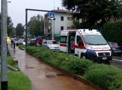 incidente ambulanza 118 casciago pioggia