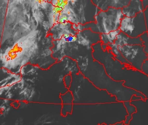 La mappa dei fulmini (inserita in galleria)