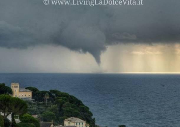 Nuova tromba d'aria al largo della costa Ligure