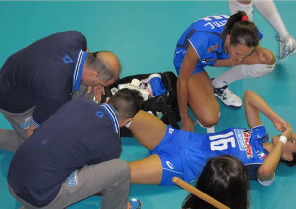 pallavolo nazionale femminile world grand prix 2014 sassari infortunio lucia bosetti