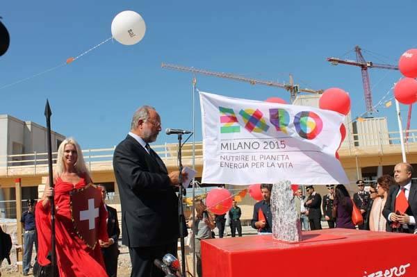 Expo2015: prima pietra per il Padiglione svizzero (inserita in galleria)