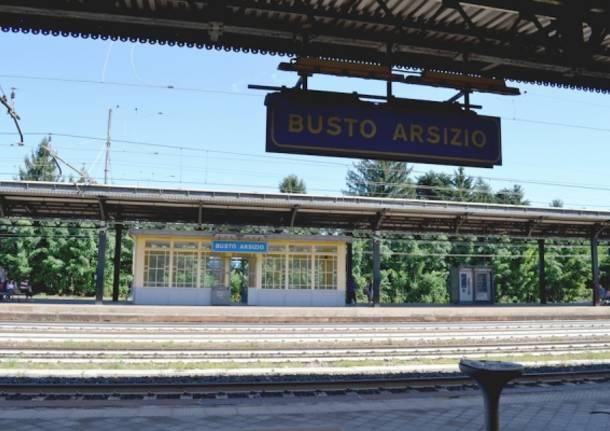 La stazione di Busto Arsizio (inserita in galleria)