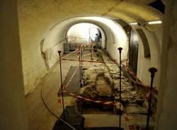 Resti del V secolo nella cripta del Sacro Monte (inserita in galleria)