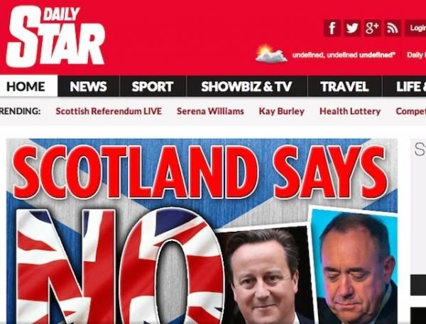 Scozia, le reazioni al referendum (inserita in galleria)