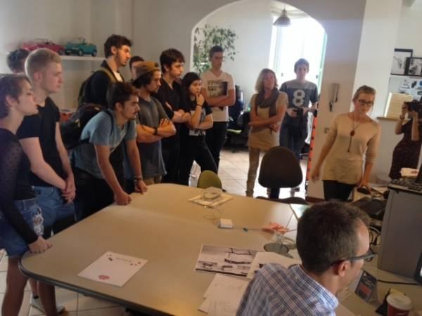 Studenti dal Belgio allo studio volpi di Carnago (inserita in galleria)