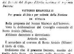 Busto Arsizio compie 150 anni da città (inserita in galleria)