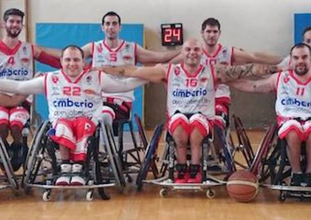 formazione cimberio handicap sport varese basket in carrozzina 2014 2015