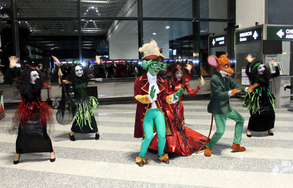 Geronimo Stilton a Malpensa (inserita in galleria)