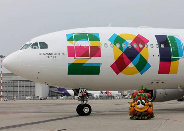 Gli aerei di Expo2015 (inserita in galleria)