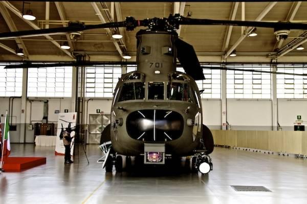 Il nuovo CH 47 di Agusta Westland (inserita in galleria)