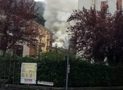 Incendio a Porto Ceresio (inserita in galleria)