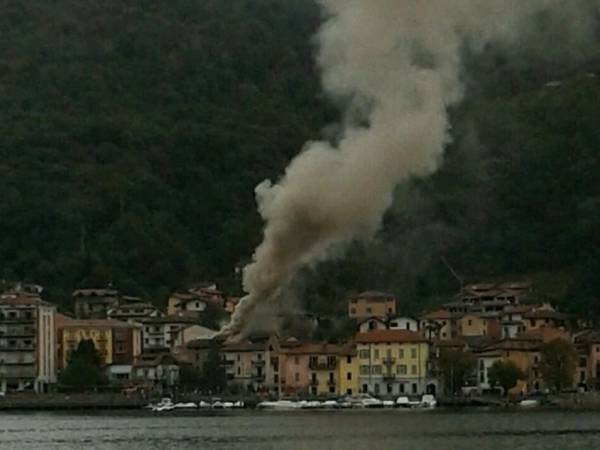 Incendio a Porto Ceresio (inserita in galleria)