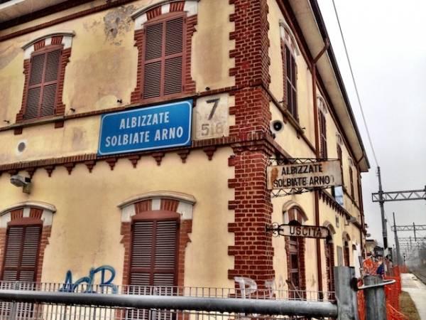 Reportage sui cantieri della stazione di Albizzate (inserita in galleria)