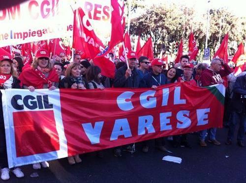 Varese alla manifestazione di Roma (inserita in galleria)