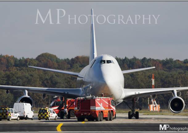 aereo cargo vigili del fuoco malpensa