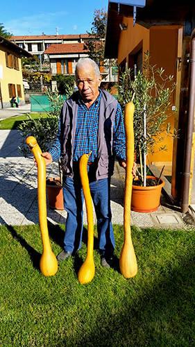 Gregorio e le sue zucchine (ormai zucche) siciliane