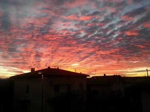 Il cielo del dovese stamattina