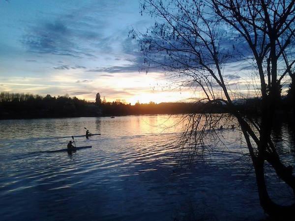 Il tramonto a Sesto Calende