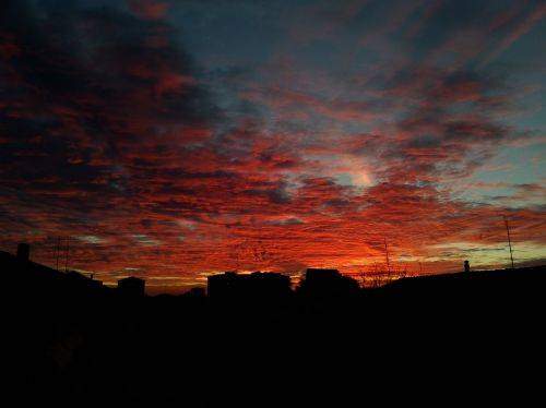 L' alba questa mattina
