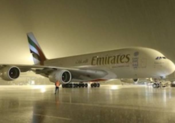 a380 emirates malpensa
