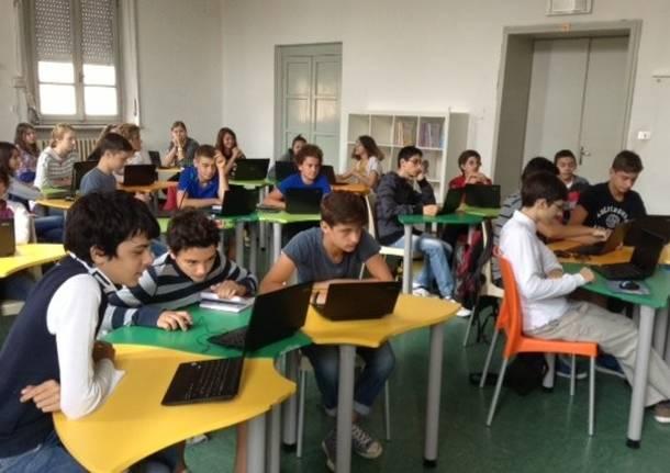 classe digitale flipped class generica scuola computer