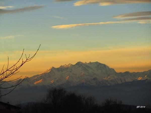 Le Alpi al tramonto (inserita in galleria)