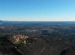 Il panorama dalla funicolare (inserita in galleria)