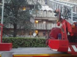 Incendio in una palazzina a Sacconago  (inserita in galleria)