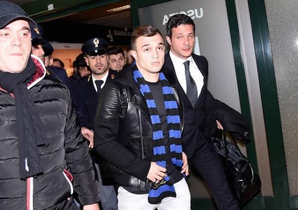 L'arrivo di Shaqiri a Malpensa (inserita in galleria)