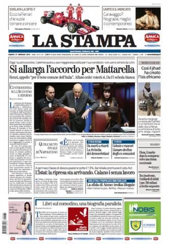 Le prime pagine dei giornali (inserita in galleria)