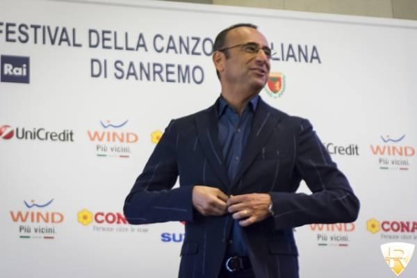 Carlo Conti, il presentatore del Festival di Sanremo  (inserita in galleria)