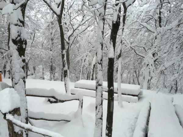 Il rifugio Pravello sotto 40 cm di neve (inserita in galleria)