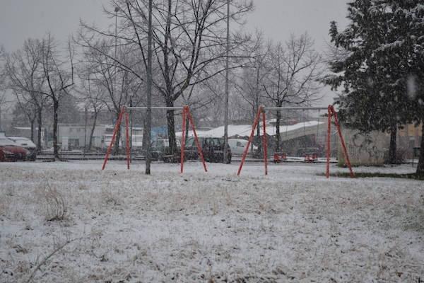 La nevicata su Busto Arsizio (inserita in galleria)