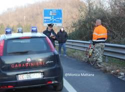 Non ce l'ha fatta il ciclista investito a Cittiglio  (inserita in galleria)