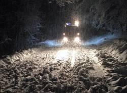 Vigili del Fuoco nella tormenta di neve (inserita in galleria)