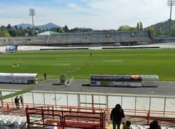Atto vandalico allo stadio Ossola, le foto