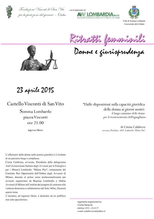 Ritratti Femminili - Donne e Giurisprudenza