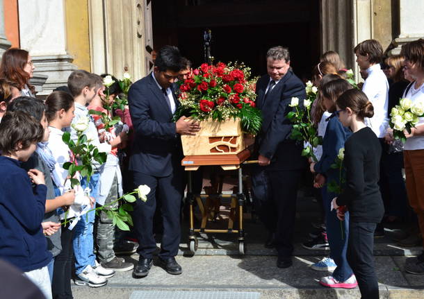 I funerali di Sabrina Manganaro