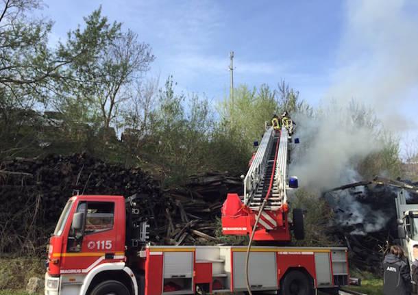 incendio traversine dei treni