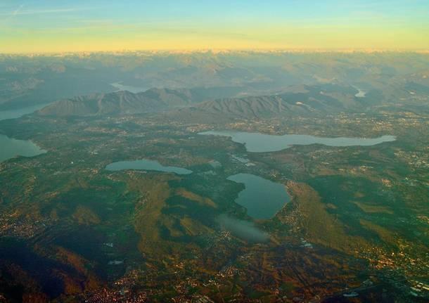Laghi di Varese dall'alto
