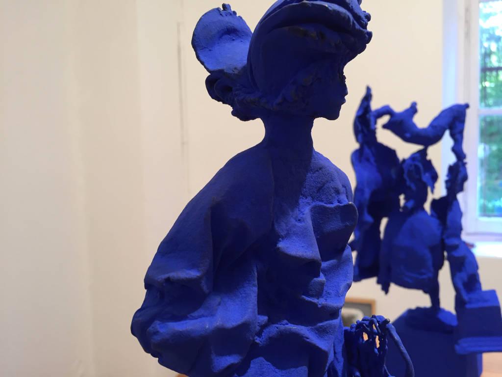 ceramica ibis volti blu