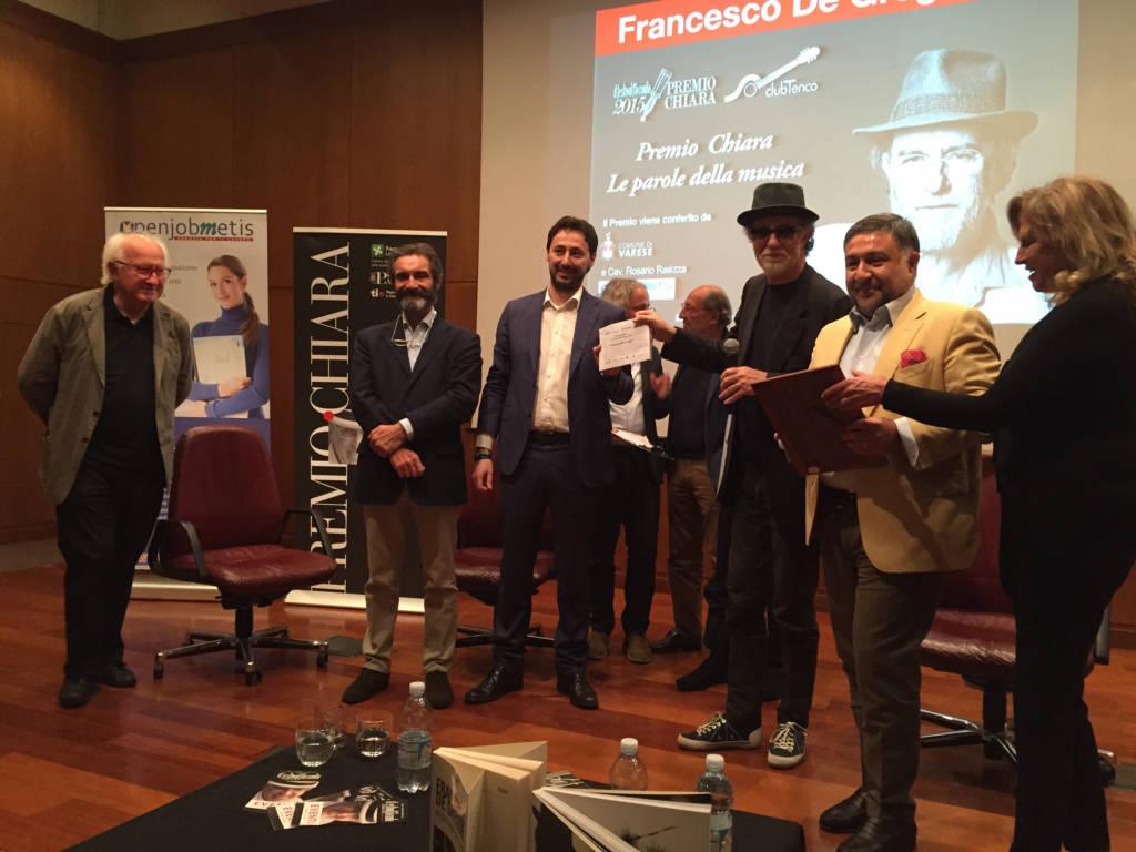 De Gregori è il premio Chiara