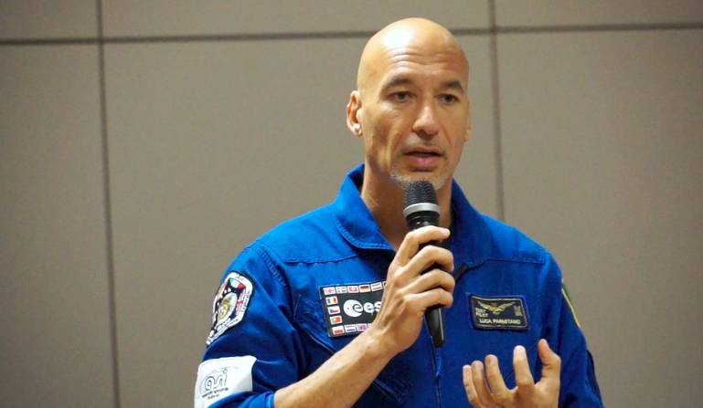 L'astronauta Luca Parmitano a Volandia
