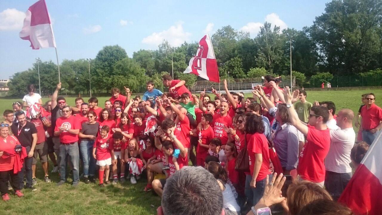 Rugby Varese, festa promozione in serie B