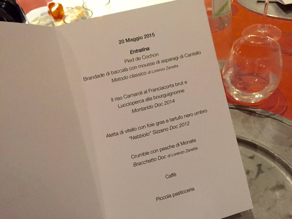 Un menù di gala per Santin