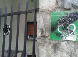 Vernice contro casa Fagioli