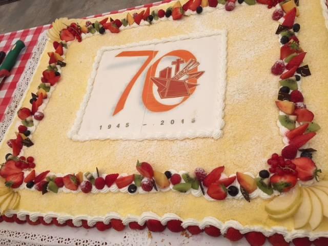 Acli,una torta con 70 candeline