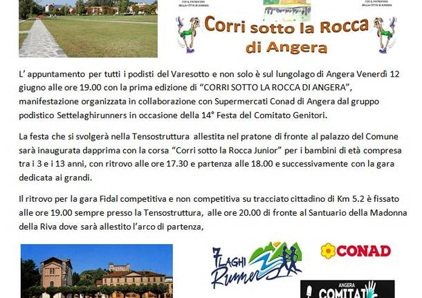 "Angera apre le porte all'estate di ""corsa"""