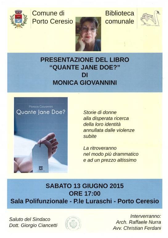 """Presentazione del libro \""""Quante Jane Doe?\"""" di Monica Giovannini"""